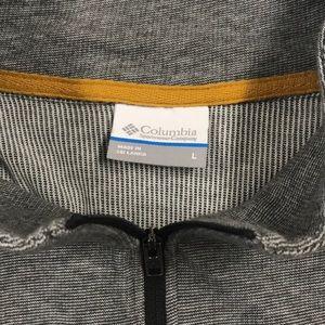 Columbia Shirts - COLUMBIA Mens Large 1/4 Zip Pullover Shirt